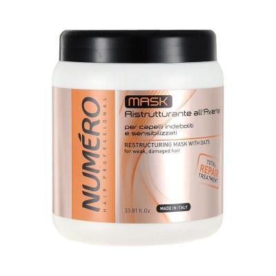 Восстанавливающая маска для волос с экстрактом овса Brelil Numero 1000 ml (8011935052875)