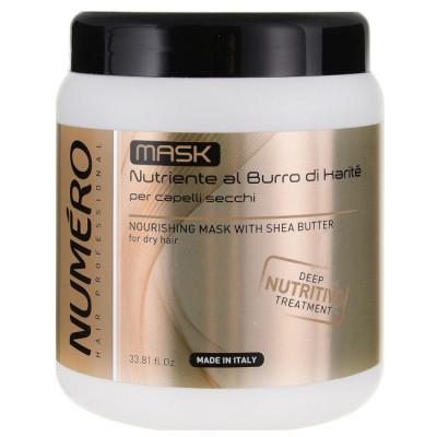 Живильна маска для волосся з екстрактом каріте та авокадо Brelil Numero 1000 ml (69712)