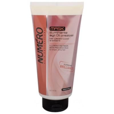 Маска для придания волосам блеска с ценными маслами Brelil Numero 300 ml (71777)